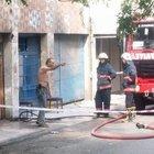 Kendisini kilitlediği işyerini ateşe verdi