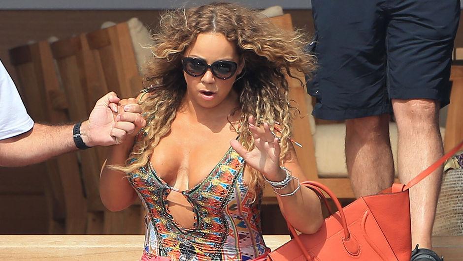 Mariah Carey düştü, sevgilisi James Packer izledi