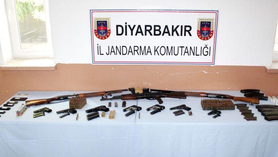Diyarbakır'da 6 ayda ele geçirilen mühimmat açıklandı
