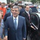 Abdullah Gül'ü görünce el frenini unuttu!