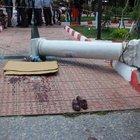 İzmir'de pazar yerinde inanılması güç kaza