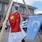 Balıkesir'deki eylemde Mao'yu astılar