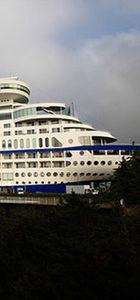 Gemi şeklinde otel yaptılar...