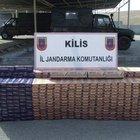 Kilis'te 116 bin 190 paket kaçak sigara yakalandı