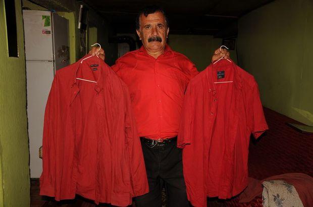 """41 yıldır sadece """"kırmızı gömlek"""" giyiyor"""