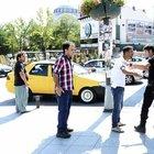 Taksi şoförleriyle turistler arasındaki kavgayı çevik kuvvet ayırdı