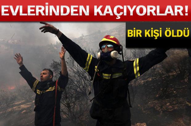 Yunanistan Atina yangın