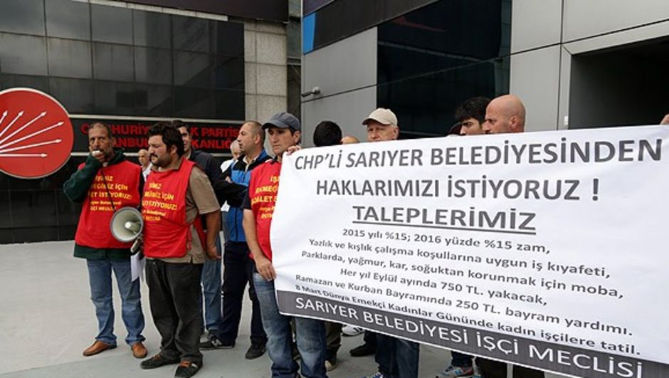 CHP İstanbul İl Başkanlığı önünde eylem