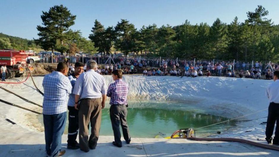 Balıkesir Dursunbey yangın söndürme havuzu boğulmak