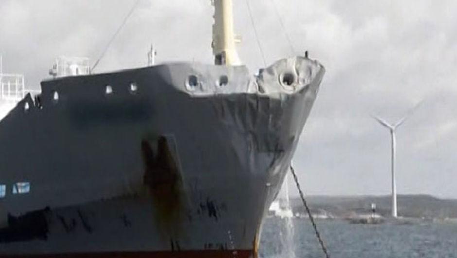 Danimarka'nın Frederikshavn limanından İsveç'in Göteborg şehrine gitmekte olan yolcu gemisi Stena Jutlandica, gece saat 02.21 sıralarında Vinga adası açıklarında Ternvind adlı tankerle çarpıştı