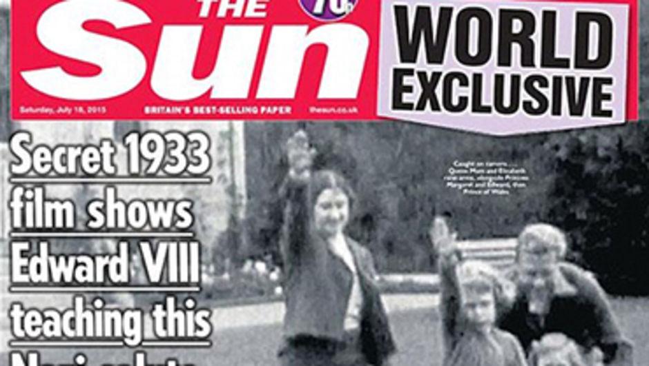 ngiliz The Sun gazetesinin İngiltere Kraliçesi Elizabeth'in 7 yaşındayken Nazi selamı yaparken ki video filmini yayınlamasının ardından Buckingham Sarayı gazeteyi mahkemeye verdi