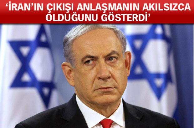 """İsrail Başbakanı Binyamin Netanyahu, İran lideri Ayetullah Ali Hameney'in P5+1 ülkeleri ve İranla geçen hafta imzalanan nükleer anlaşmanın ardından yaptığı konuşmanın, anlaşmanın """"akılsızca"""" olduğunu gösterdiğini söyledi"""