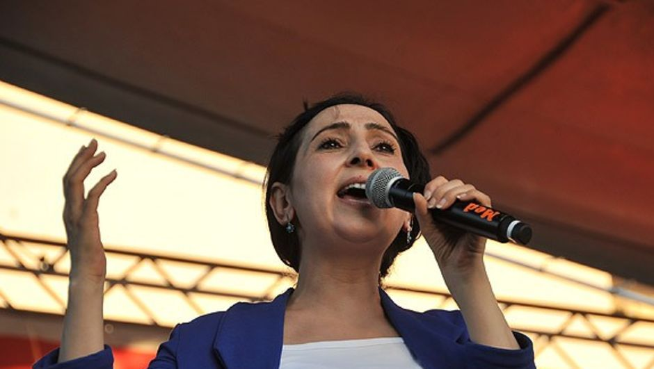 HDP Eş Genel Başkanı Figen Yüksekdağ,