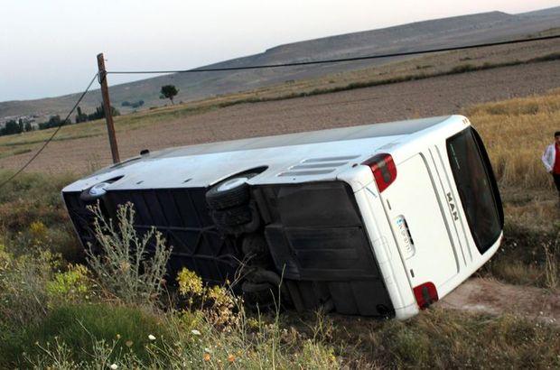 kayseri yolcu otobüsü kaza yaralı
