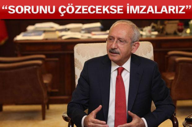 Kılıçdaroğlu Habertürk'e konuştu, Davutoğlu'nun çağrısına yanıt verdi: Sorunu çözecekse imzalarız