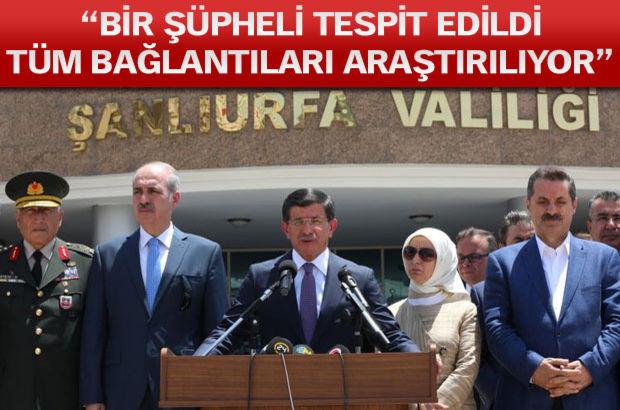 Başbakan Davutoğlu önce Adıyaman'a şehit cenazesine ardından da Suruç'a gidiyor