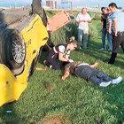 Yeşilköy'de 'ıslak dönüş' kazası!