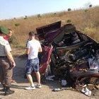 Kamyon emniyet şeridindeki otomobili biçti: 1 ölü 2 yaralı