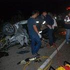Tokat'ta ki otomobil kafa kafaya çarpıştı