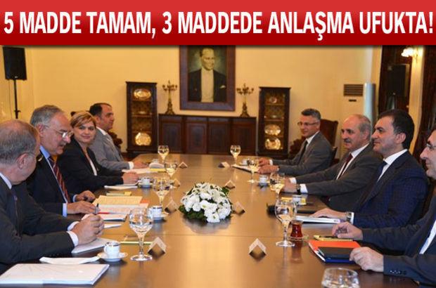 İşte Ak Parti ve CHP'nin henüz uzlaşamadığı 4 madde!