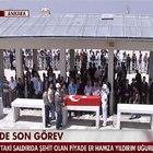 Şırnak'ta şehit olan Hamza Yıldırım için cenaze töreni