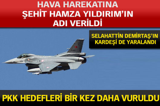 PKK hedefleri bir kez daha vuruldu
