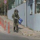Ataşehir'deki pols merkezinin yanındaki şüpheli paketten galeta çıktı