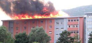 Bilecik'teki Açık Cezaevi'nde korkutan yangın!