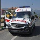 Hasta almaya giden ambulansın çarptığı bisikletli öldü