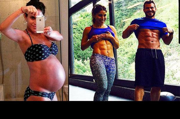 Irmak Ünal'ın hamilelik kiloları gitti
