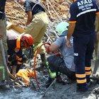İzmir'de viyadük inşaatında iskele çöktü: Yaralılar var