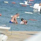 Kemal Yılmaz yüzme öğreniyor