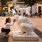 Şişman heykeller Şişli sokaklarında