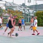 Mehmet Aslantuğ ve Ozan Güven'in basketbol keyfi