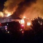 Düzce'de elektrik kontağından çıkan yangında 3 ev alev alev yandı