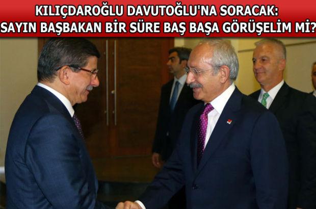 Ahmet Davutoğlu, Kemal Kılıçdaroğlu, koalisyon, görüşme