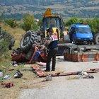 Karabük'te traktör devrildi: 1 ölü, 10 yaralı