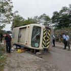 Fındık işçilerini taşıyan midibüs devrildi: 1 ölü, 24 yaralı