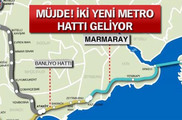 İstanbul Büyükşehir Belediye Başkanı Kadir Topbaş, Ataköy-İkitelli, Dudullu-Bostancı Metroları