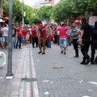 Alanya'da terör eyleminde  taşlı sopalı kavga çıktı
