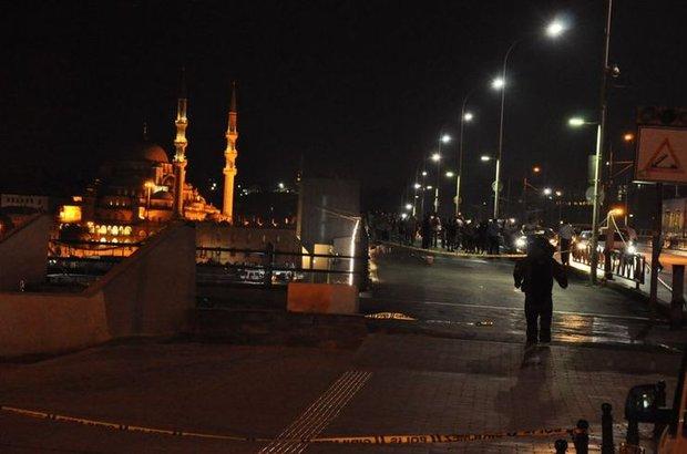 Galata Köprüsü'nde bomba alarmı!