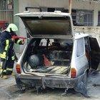 Otomobil kaynak yapılırken yandı