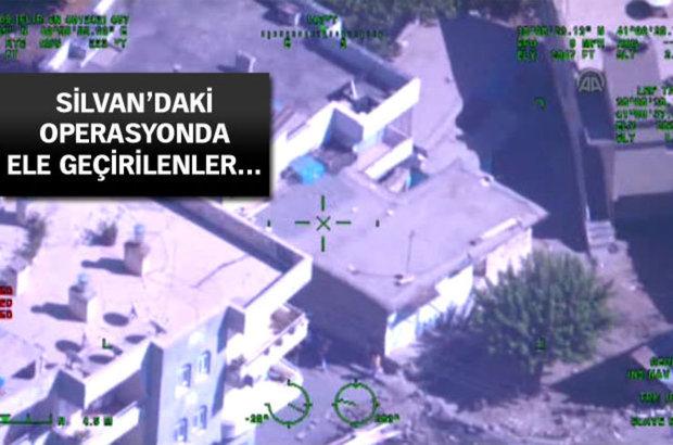 Silvan'daki operasyonun helikopterden çekilmiş görüntüleri yayınlandı