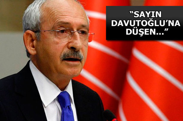 CHP Genel Başkanı Kemal Kılıçdaroğlu, Başbakan Davutoğlu