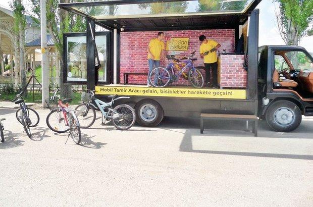 'Sarı Bisiklet' Bakırköy yollarında
