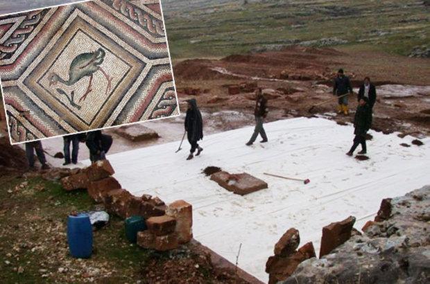 Adıyaman'daki mozaik yaklaşık 150 metrekarelik bir alanda bulunuyor