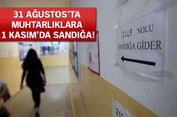 Yüksek Seçim Kurulu, seçim takvimi, erken seçim