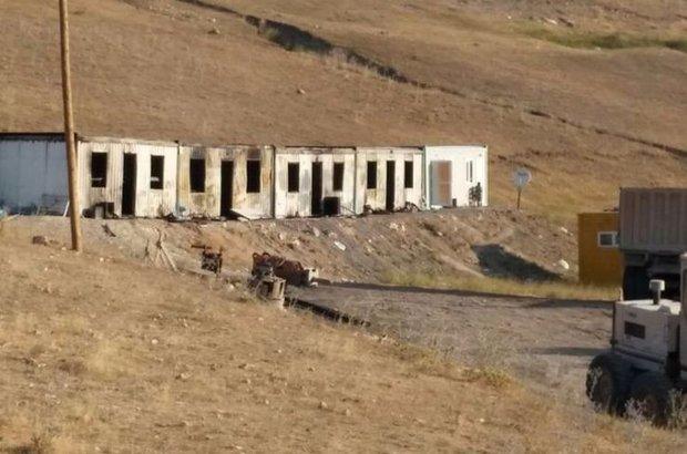 Erzurum'da iş makinesi ve konteynerlere PKK saldırdı