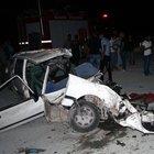 Asfalt tankeri otomobili çiğnedi: 3 ölü 5 yaralı