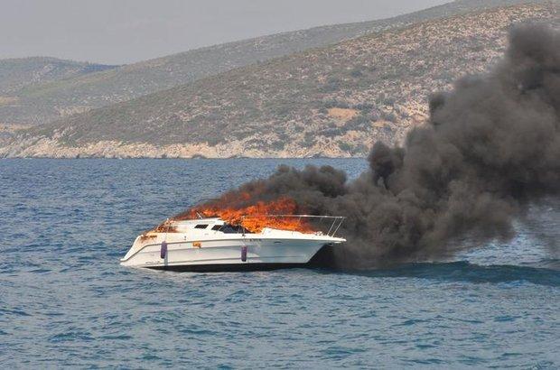 Kuşadası Sürat teknesi yangın